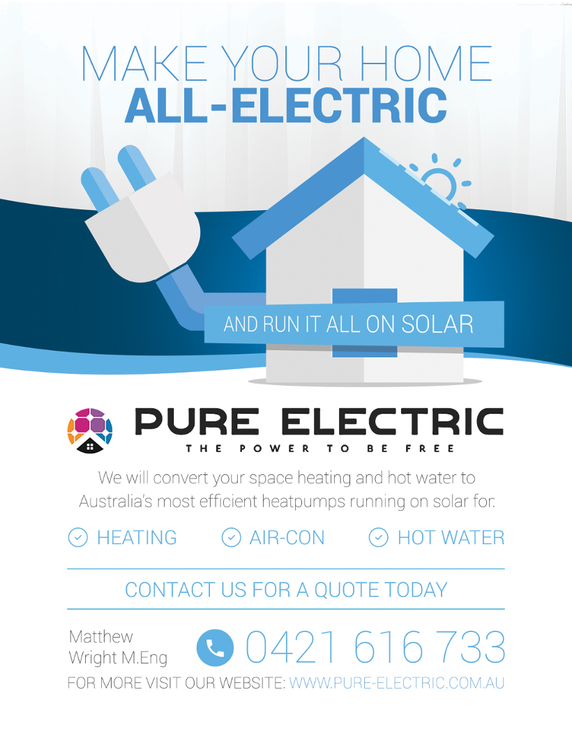 Pure Electric the plug in house - run it all on solar!!
