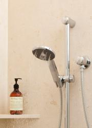 Methven Kiri Satinjet Ultra Low Flow shower handset optional rail