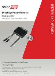 SolarEdge Power Optimizer Add On Datasheet