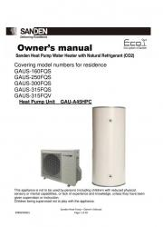 Sanden Eco Plus FQS FQV Owners Manual
