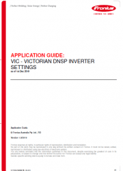 Victorian DNSP Inverter Settings (1st Dec 2019) - How to guide for Fronius inverters