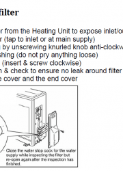 Sanden Eco Heat Pump Hot Water System EQTE G2 Cleaning the inlet filter